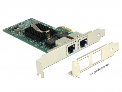 PCI Express la 2 x Gigabit LAN chipset Intel 82576, Delock 89944