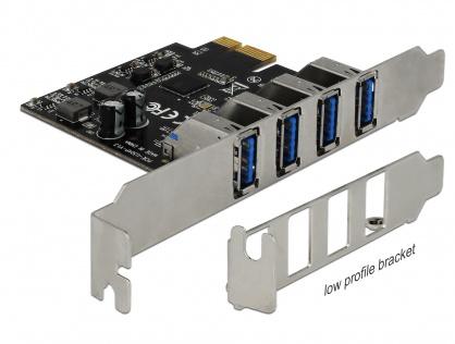 PCI Express cu 4 porturi USB 3.0 (pentru Mac), Delock 90304