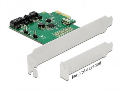 PCI Express cu 2 porturi SATA III cu RAID, Delock 90392