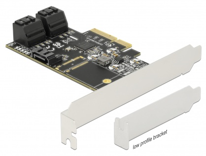 PCI Express cu 5 porturi SATA III, Delock 90395