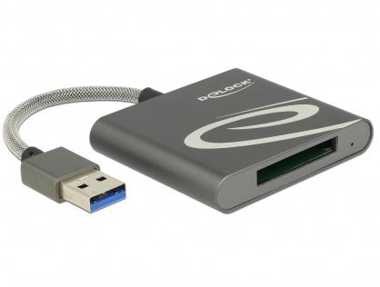 Cititor de carduri USB 3.0 pentru carduri memorie XQD 2.0, Delock 91583