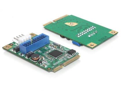 Mini PCIe I/O PCIe 1 x pin header 19 Pini USB 3.0 Full size, Delock 95234