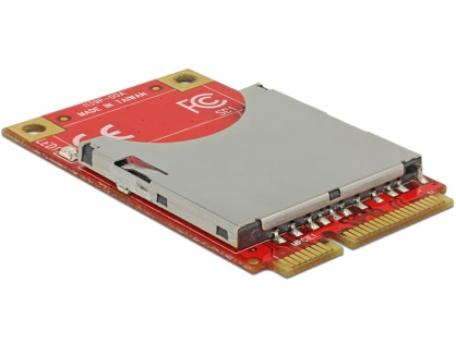 Mini PCIe I/O USB full size 1 x SD Card slot, Delock 95261