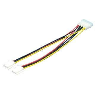 Cablu de alimentare Molex la 2 x Floppy T-M, Logilink CP0002