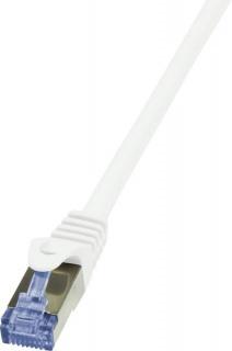 Cablu de retea RJ45 SFTP cat6A LSOH 0.25m alb, Logilink CQ3011S