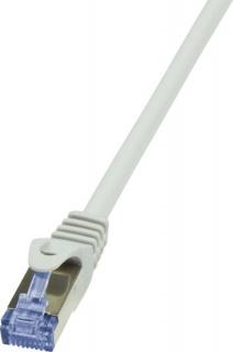 Cablu de retea RJ45 SFTP cat6A LSOH 0.25m gri, Logilink CQ3012S