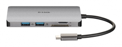 Docking station USB-C la HDMI 4K, 2 x USB-A, 1 x Quick Charge (BC 1.2), 1 x USB-C (Thunderbolt 3), D-LINK DUB-M610