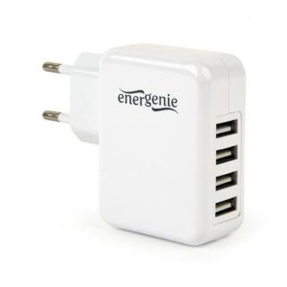 Incarcator priza 4 x USB 3.1A Alb, Energenie EG-U4AC-02
