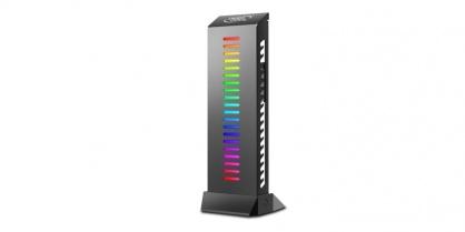 Suport placa video pentru carcasa cu iluminare RGB, Deepcool GH-01 A-RGB