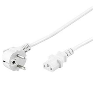 Cablu alimentare PC IEC C13 2m Alb