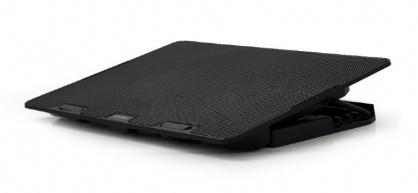 """Stand metalic notebook 15.6"""" 2 x fan 12.5cm Negru, Gembird NBS-2F15-02"""