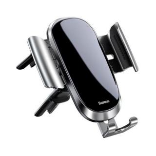 Suport auto magnetic pentru smartphone cu montare ventilator Argintiu, Baseus FutureGravity