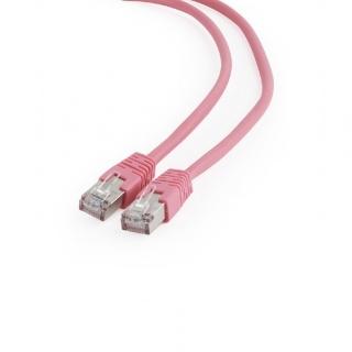 Cablu de retea RJ45 FTP cat6 0.25m Roz, Gembird PP6-0.25M/RO