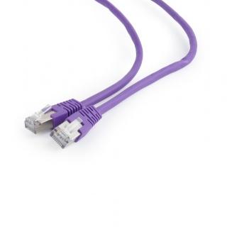 Cablu de retea RJ45 FTP cat6 0.25m Mov, Gembird PP6-0.25M/V