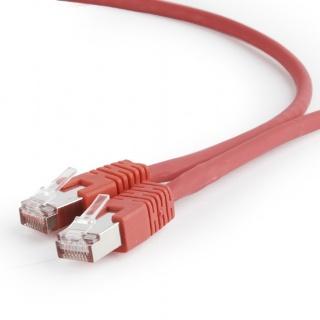 Cablu de retea RJ45 SFTP cat 6A LSOH 0.25m Rosu, Gembird PP6A-LSZHCU-R-0.25M