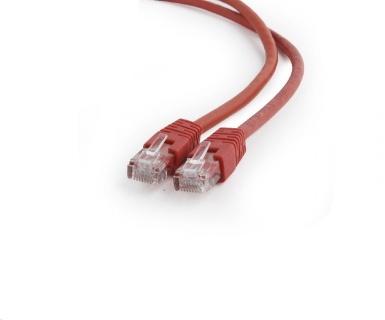 Cablu de retea RJ45 0.25m cat 6 UTP Rosu, Gembird PP6U-0.25M/R