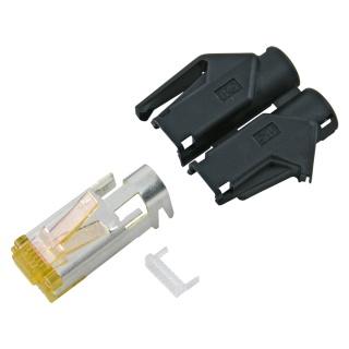 Conector de retea RJ45 cat. 6A Negru, RJ45C6A-SW