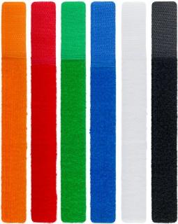 Set 6 buc cureluse colorate 17cm pentru organizarea cablurilor, Goobay 70350