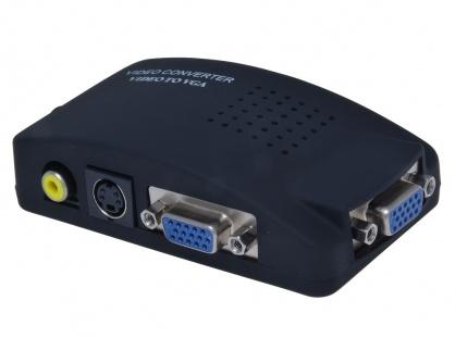 Convertor RCA/S-Video la VGA cu alimentare