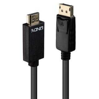 Cablu Displayport la HDMI 4K 3m T-T Negru, Lindy L36923