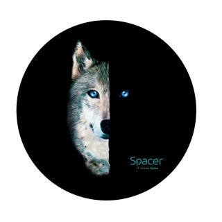 Covor gaming rotund 120cm Wolf, Spacer SPFP-WOLF-120