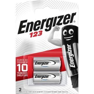 Set 2 buc baterii Lithium 3V 123, ENERGIZER E300687500