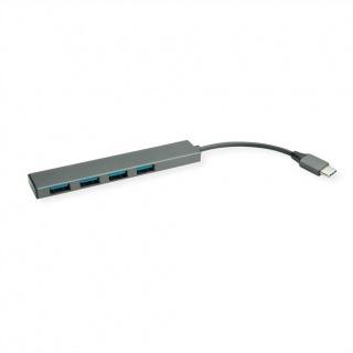 HUB ultra slim USB 3.2 Gen 1-C la 4 x USB-A, Roline 14.02.5052