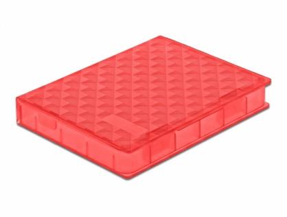 """Carcasa de protectie pentru HDD / SSD 2.5"""" Rosu, Delock 18370"""