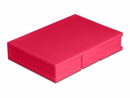 """Carcasa de protectie pentru HDD / SSD 3.5"""" Rosu, Delock 18374"""
