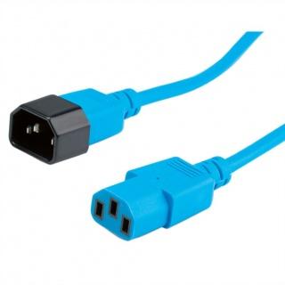 Cablu prelungitor PC C13 la C14 3m Albastru, Roline 19.08.1533