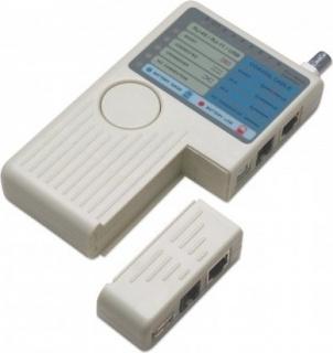 Tester RJ11/RJ45/USB/BNC, Intellinet 351911