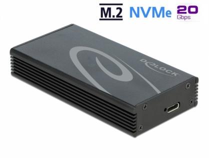 Rack extern USB 3.2-C Gen 2x2 pentru M.2 NVMe PCIe SSD, Delock 42000
