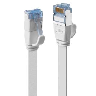 Cablu de retea RJ45 Cat.6A U/FTP Flat 0.3m Alb, Lindy L47540