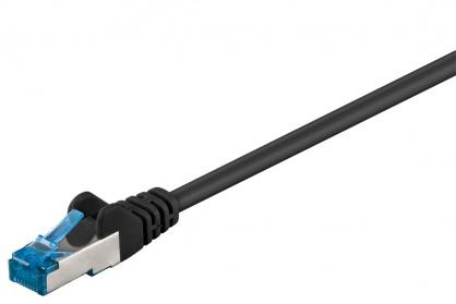 Cablu de retea cat 6A S/FTP (PiMF) CU LSOH 50m Negru, Goobay G94906