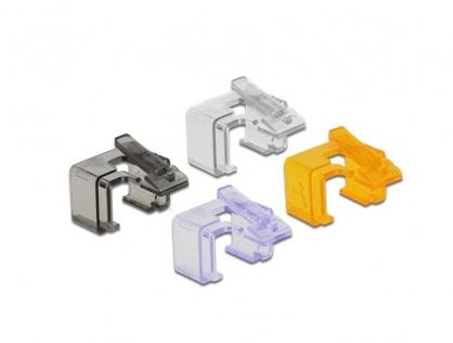 Set 40 buc clips pentru repararea cablului de retea RJ45, Delock 86422