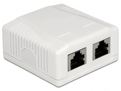 Priza aplicata 2 porturi cat 6A STP LSA, Delock 86197