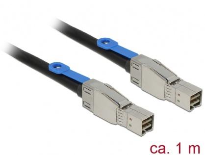 Cablu Mini SAS HD SFF-8644 la Mini SAS HD SFF-8644 1m, Delock 83394