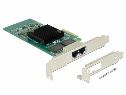 PCI Express la 2 x Gigabit LAN chipset Intel i350, Delock 89945