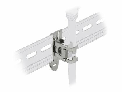 Clema pentru cablu diametru 4 - 13.5 mm cu montare pe sina DIN, Delock 66441