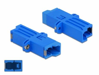 Cupla fibra optica E2000 Simplex M-M Single-mode Blue, Delock 86945