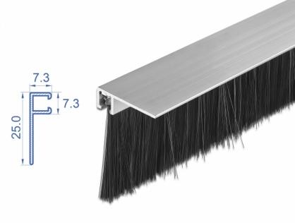 Banda cu perii 40 mm cu profil din aluminiu unghi 1m, Delock 66652