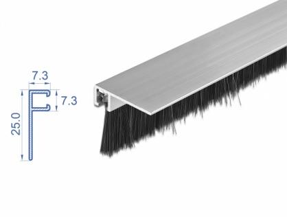 Banda cu perii 20 mm cu profil din aluminiu unghi 1m, Delock 66650