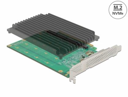 PCI Express cu 4 porturi NVMe M.2 Key M cu ventilator, Delock 90054