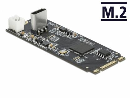 Convertor M.2 Key B+M la USB Type-C T-M, Delock 63174