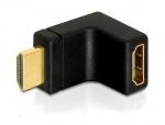 Adaptor HDMI T - M unghi 90 grade in sus, Delock 65072