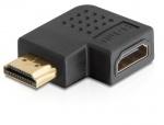 Adaptor HDMI T - M unghi 90 grade dreapta, Delock 65076