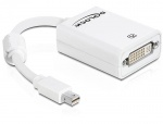 Adaptor mini Displayport la DVI 24+5 pasiv Alb T-M, Delock 65129
