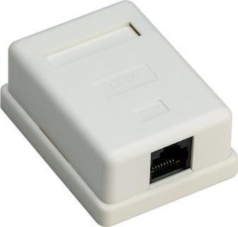 Priza aplicata retea RJ45 1 port cat 6 UTP, Goobay G77632