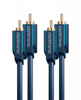 Cablu audio 2 x RCA la 2 x RCA T-T 15m, Clicktronic CLICK70385