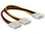 Cablu alimentare Molex la 2 x Molex 4 pini T-M, Delock 82100